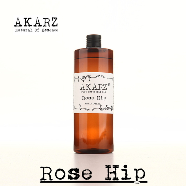 AKARZ Famous brand pure rose hip oil  natural aromatherapy high-capacity skin body care  massage spa rose hip essential oil