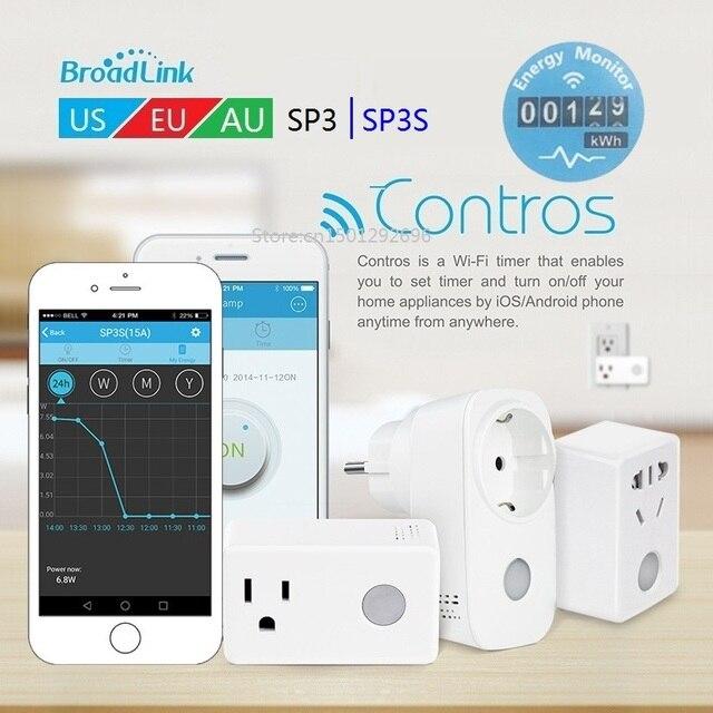 Smart home 2018 Broadlink SP3 SP3S timer wifi plug outlet power ...
