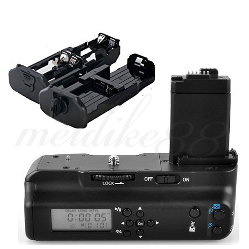 New MeiKe MK-450D LCD Screen Vertical Camera Battery Grip for Canon EOS 450D 500D XSi T1i XS BG-E5 1000D Free Shipping