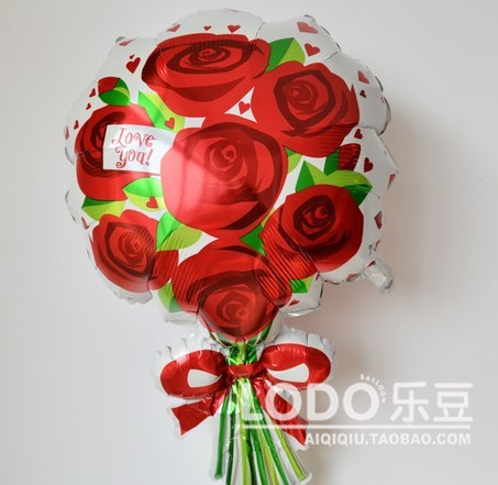 Anagram Big Foil Balloon Propose marriage Wedding Valentine's day  Rose balloons size 45*76cm