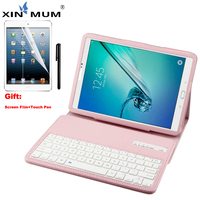 XIN MUM Keyboard Case For Samsung Galaxy Tab A 9.7 inch T550 555 PU Leather Tablet Cover Wireless Bluetooth Keyboard