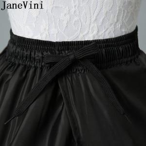 Image 4 - JaneVini 2019 גדול תחתונית 6 חישוקים כדור שמלה שחור קרינולינה תחתונית לבן נשים חתונה שמלת תחתוניות תחתוני כלה