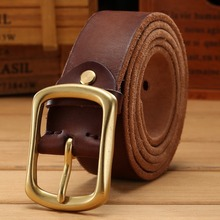 solid brass buckle 2020 full grain 100% genuine leather mens belts luxury hot designer high quality womens cowboy brown natural