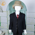 Nimble Boys Formal Suit  Solid Polyester Single Breasted Flat Kids Wedding Party Program Suit
