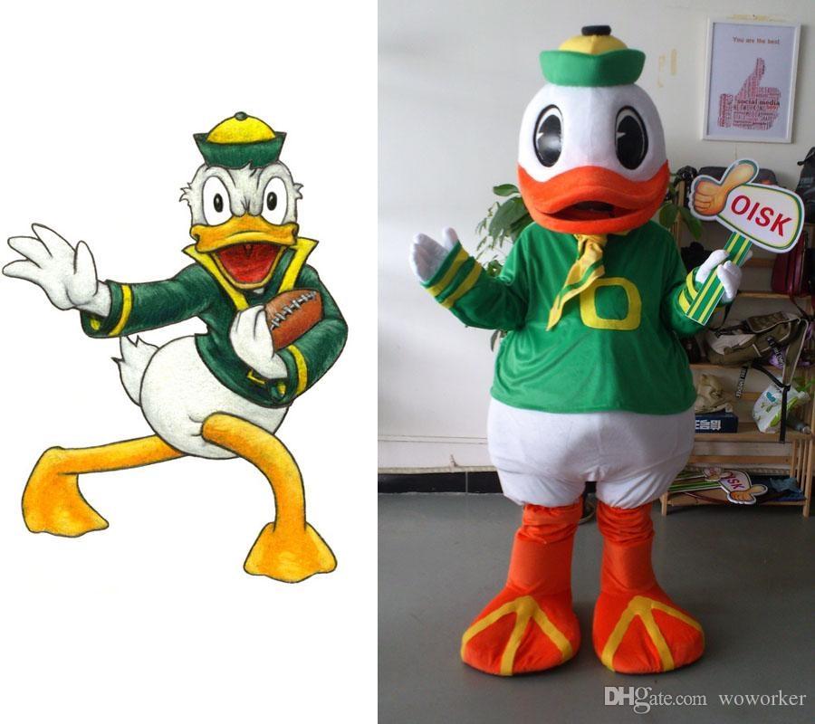 Ohlees réel image haute qualité Oregon canard mascotte Costume adulte personnage Costume fantaisie robe