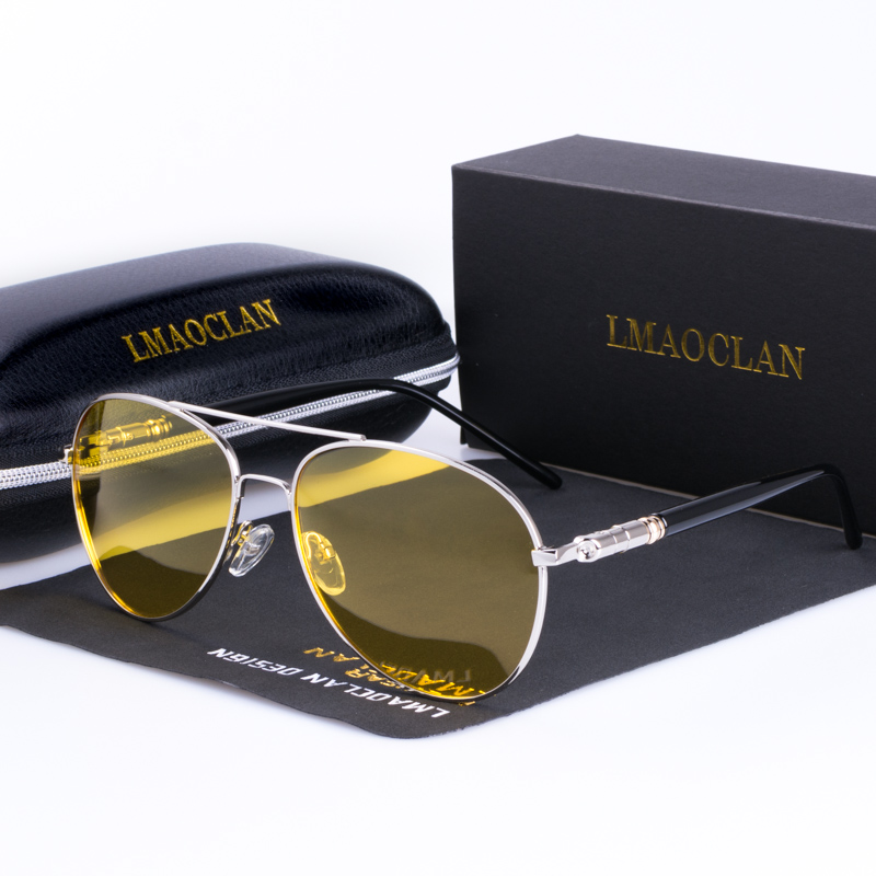 317cb99692 2018 Men Polarized Night Vision Driving Sunglasses Brand Designer Yellow  Lenses Glasses Goggles Reduce Glare