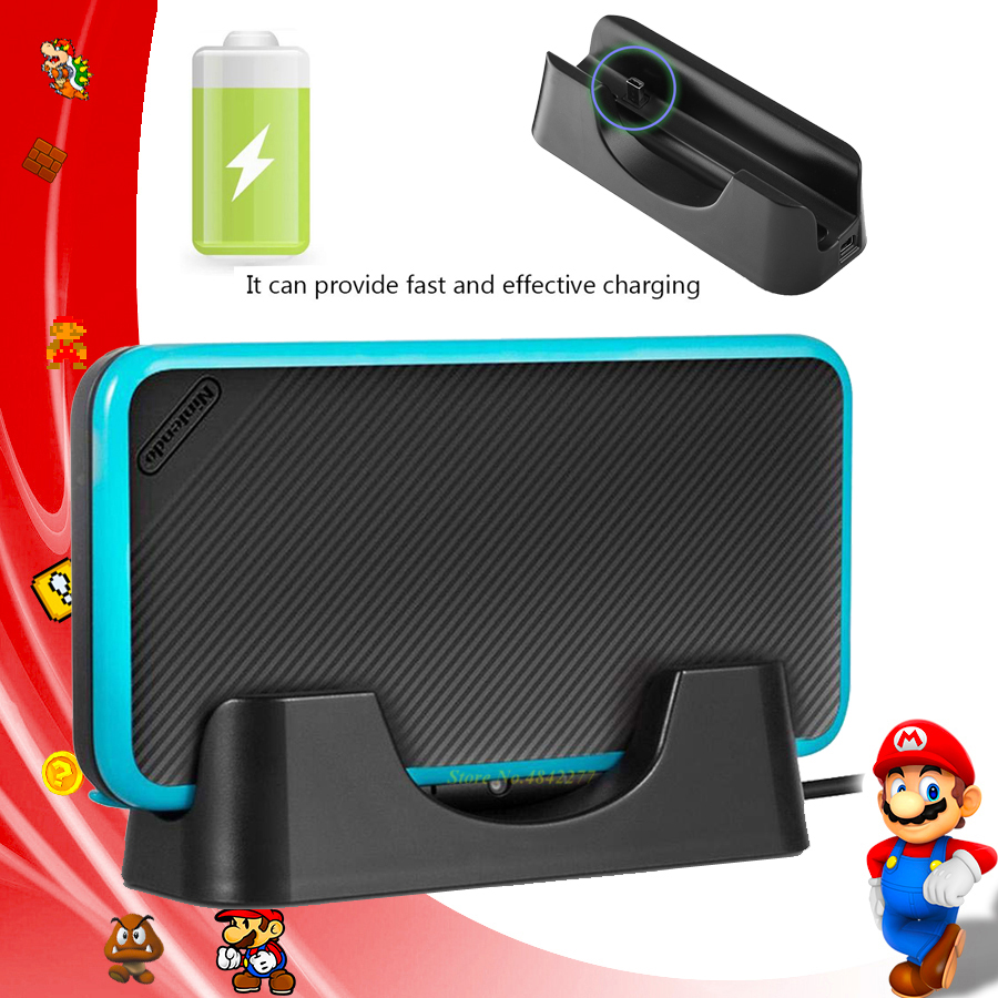 2019 Newest Nintend 2DS LL/XL Dock Accessories Charger Universal Fast Charging Station Nintendos for Nintendo Console Games