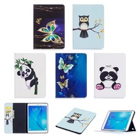Fashion Stand PU Leather Case For Samsung Galaxy Tab A 9 7 Inch SM T550 T551
