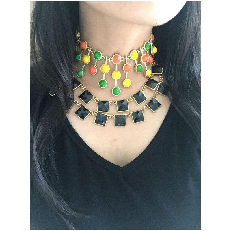 a3806784b6f Cirgen moda Bohemia declaración gargantilla mujeres colorido resina  colgante collar BiB vintage collar joyas artículo