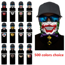 Halloween Scary Mask Festival Skull Masks Skeleton Outdoor Motorcycle Bicycle Multi Mask Scarf Half Face Mask Cap Neck Ghost J2