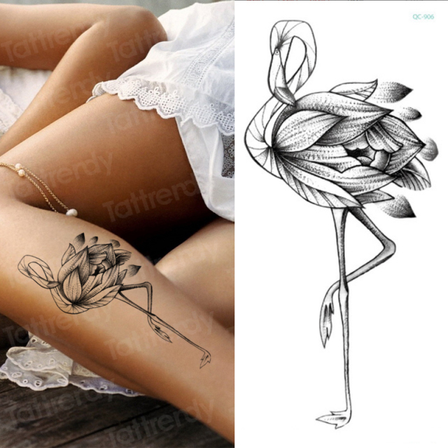 Temporary tattoo sticker flower peony rose sketches tattoo designs sexy girls model tattoos arm leg black henna stickers women