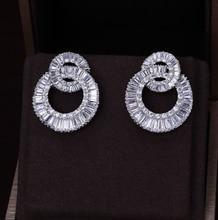 A309 Famous top zircon earrings for women/girl, flower design luxury micro pave Cubic Zirconia stud earrings fashion jewelry
