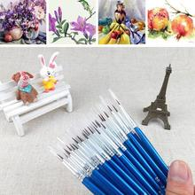 10 pieces / set of high quality beautiful hand-painted thin hook line pen drawing art pen paint brush plastic nylon brush pen