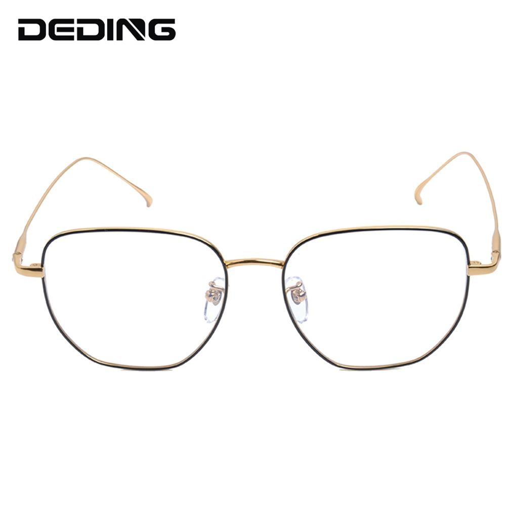 Pure Titanium Glasses Frame Women Polygon Ultralight Eyeglasses Prescription Men Myopia Optical Frame Eyewear DD1537 in Men 39 s Eyewear Frames from Apparel Accessories