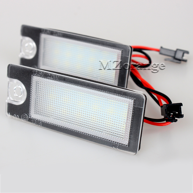 2pcs Car LED License Plate Light 12V SMD3528 Number Plate Lamp For Volvo V70 XC70 01-07 S60 01-06 S80 99-06 XC90 03- 2 pcs led license plate light no error 3528 smd lamp for audi a3 s3 a4 s4 b6 a6 c6 a8 s8 rs4 rs6