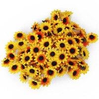 Tangpan 300 sztuk Gerbera Daisy Sztuczny Jedwab Kwiaty Głowy dla MAJSTERKOWICZÓW Część Ślubu
