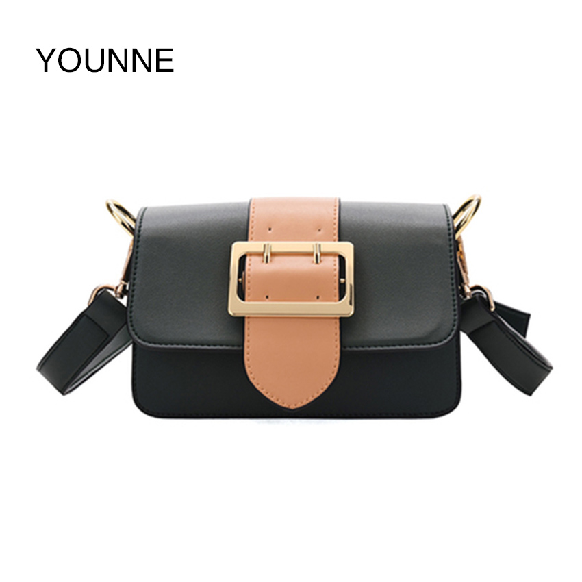 YOUNNE Women Shoulder Bags PU Leather High Quality Stylish Crossbody Bags Branded Designer Mini Flaps Travel Shopping Bags 2018