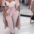 Missord 2017 Sexy Sexy плотно Складчатого пояса брюки FT4154-1