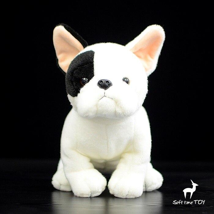 Bulldog doll Simulation plush Animals kids Toys Gifts White Dog Super Kawaii gifts