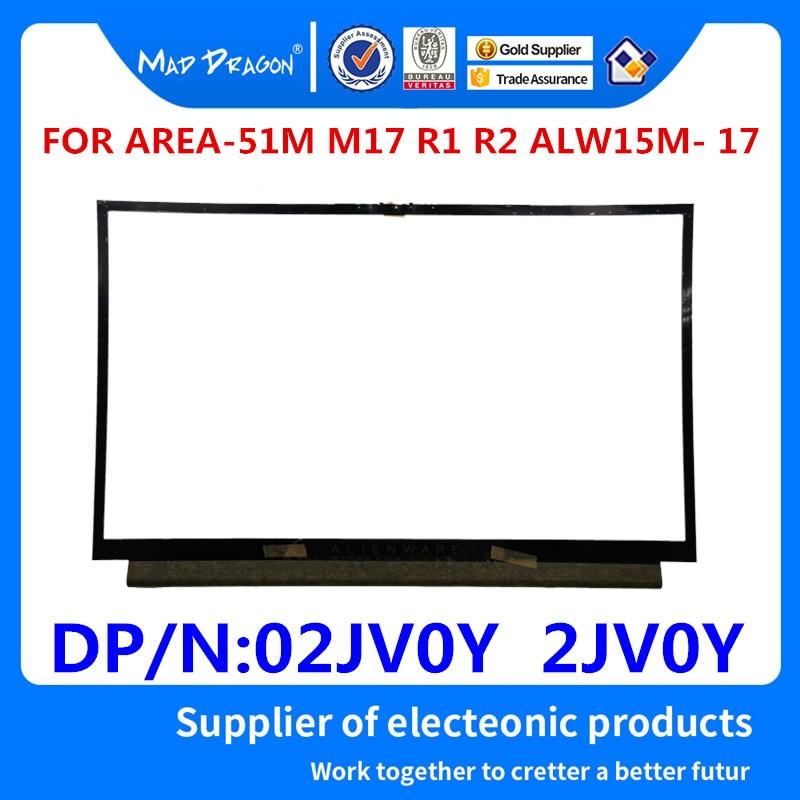 MAD DRAGON marque ordinateur portable nouveau LCD avant lunette cadre couverture lcd lunette pour Dell Alienware AREA-51M M17 R1 R2 ALW15M-17 02JV0Y 2JV0Y