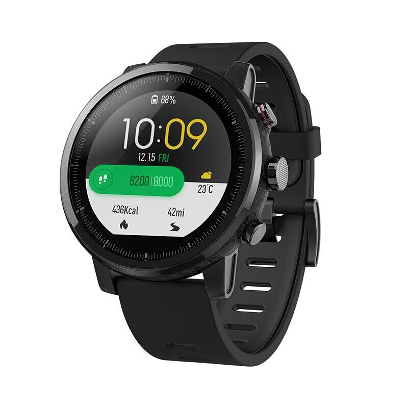 Xiao mi mi Hua mi Amazfit Montre Stratos 2 Anglais Version Montre de Sport Avec GPS PPG Moniteur de Fréquence Cardiaque 5ATM étanche Intelligent 1