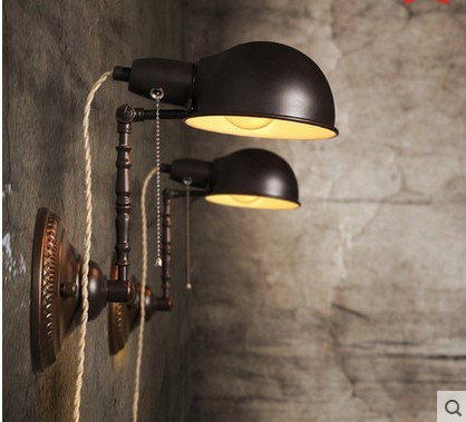 American Retro Loft Industrial Vintage Wall Lights For Home Edison ...