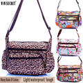 2016 Causal Women's Waterproof Light-weight Nylon Floral Cartoon Printing Crossbody Messenger Hobo Bags Handbags Bolsa feminina