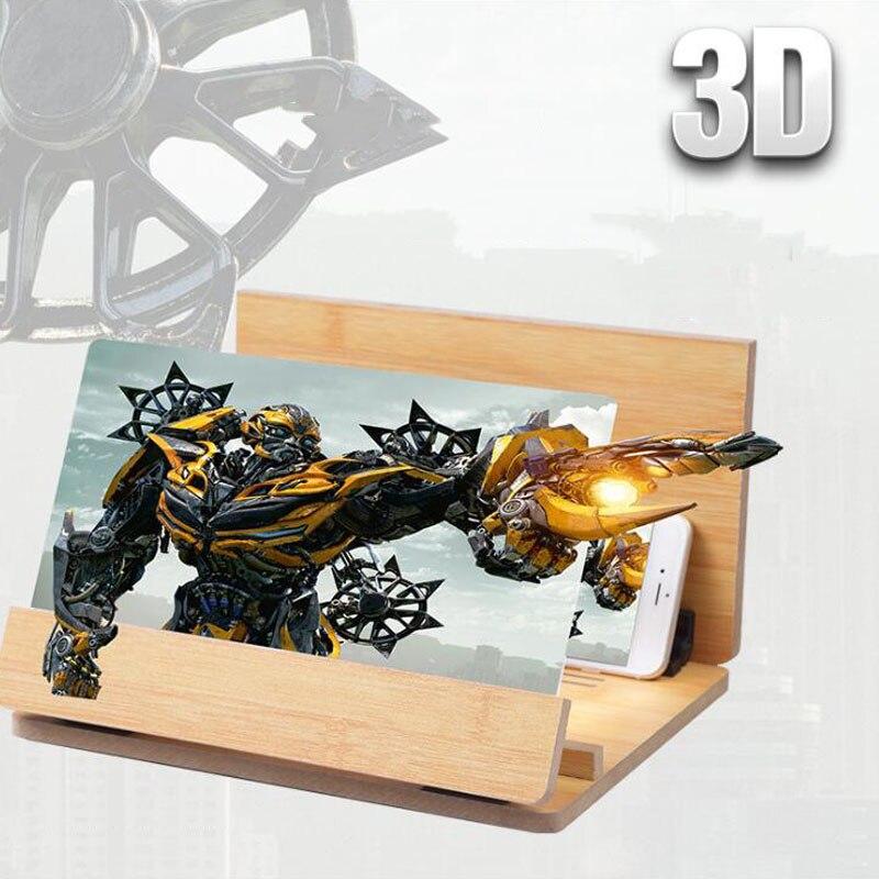3D téléphone portable écran loupe HD radioprotection Protection des yeux 3D loupe réglage support amplificateur