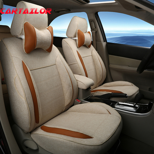 CARTAILOR Cover Seat Cars Styling Fit For Infiniti FX35 FX45 FX37 Covers Accessories Set Linen