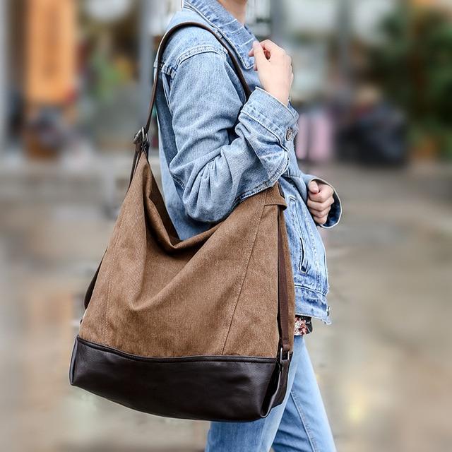 Women canvas handbags women s single shoulder bag Europe and United States  vintage new female aslant bag package trend handbags dadb07e3f1e45
