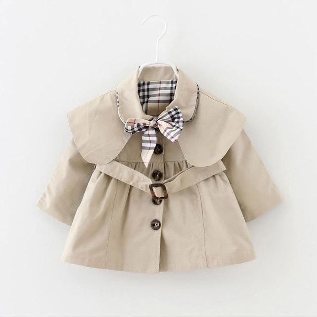 Primavera outono roupas de bebê menina 2017 marca projeto trench coat de algodão para roupas de bebê mangas compridas esportes casuais casacos jaquetas