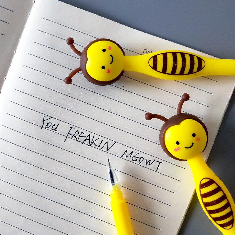 Image 5 - 50 sztuk Cartoon Little Bee długopis żelowy kreatywny śliczne biurowe uczeń czarny długopis prezenty dla dzieciDługopisy żelowe   -