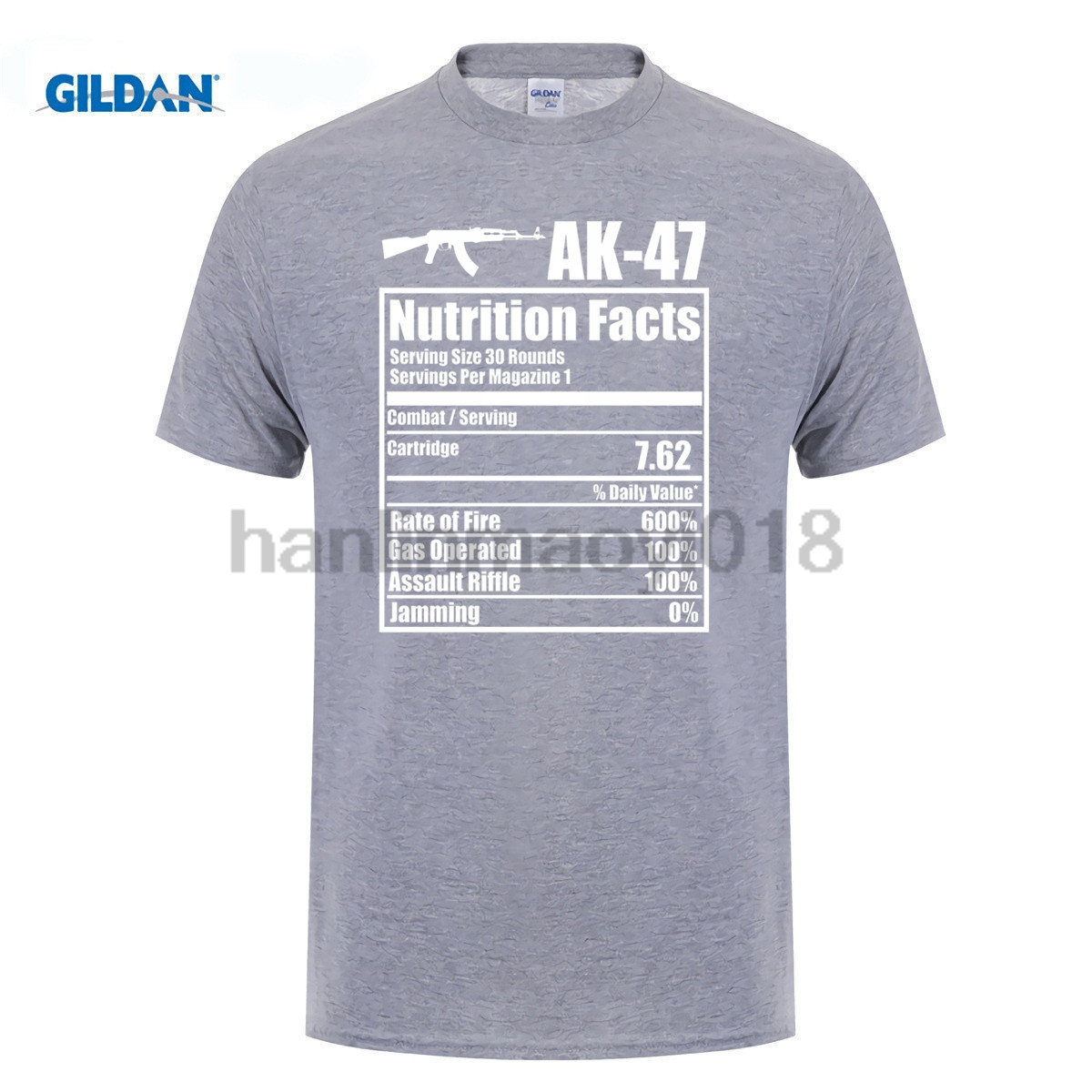 cf7fc2b7 GILDAN 2018 AK 47 Nutrition Facts Funny Gun T Shirt-in T-Shirts from Men's  Clothing on Aliexpress.com | Alibaba Group