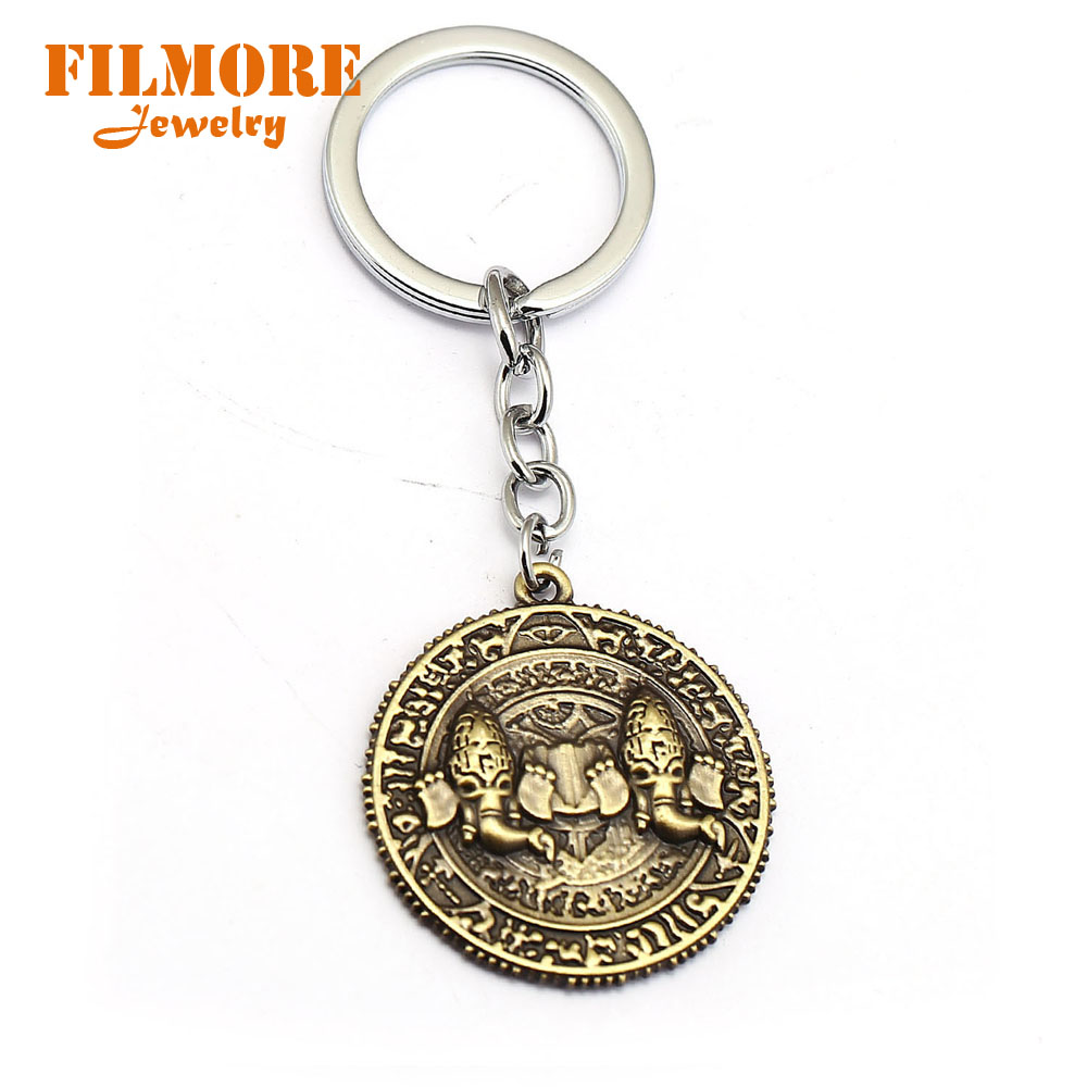 Filmore Game Uncharted 5 Keychain Antique Coin Key Ring Holder Men Car Women Bag Key Chain Pendant Chaveiro Fashion Jewelry