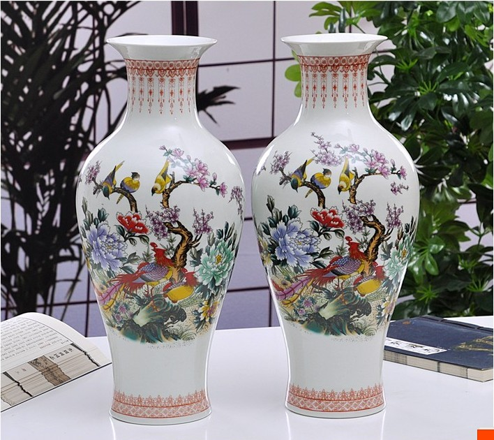 Jingdezhen Rice pattern Porcelain Chinese Vase Antique Blue and white Bone China Decorated Ceramic Vase Flower character pattern