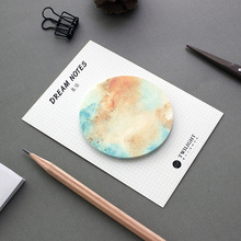 60 pcs/Lot Dream memo pad 30 sheet Star planet sticky note Post it sticker Stationery Office accessories School supplies CM665