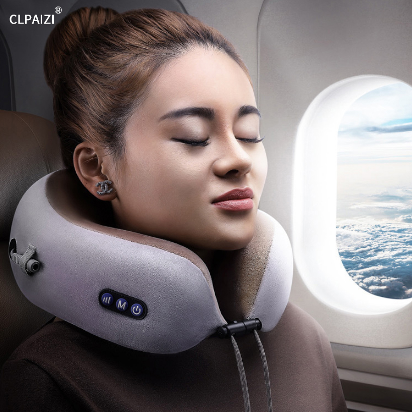 CLPAIZI oreiller de Massage en forme de U pince châle cervicale masseur d'épaule Portable voyage charge oreiller de Massage électrique en forme de U