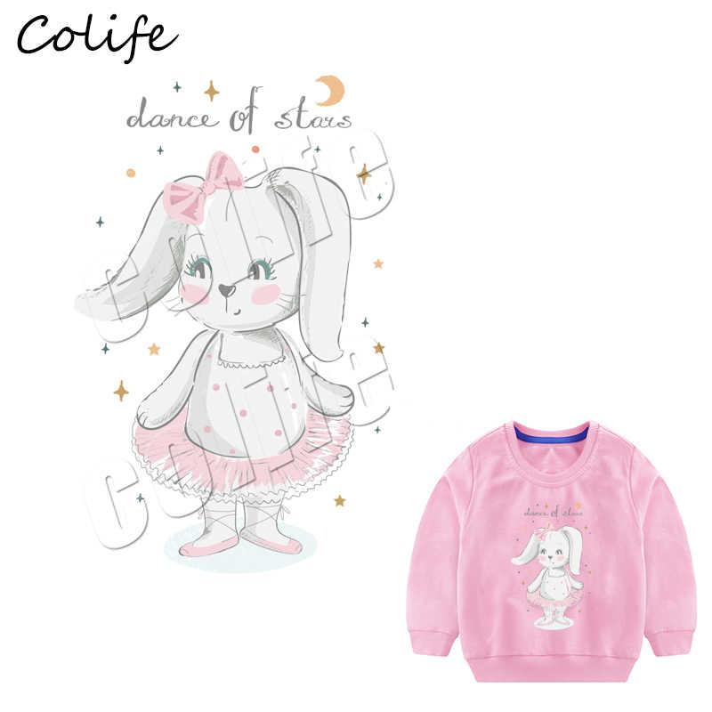 Кролик мультфильм Parches для детей футболка термоприклеивание, наклейки Diy моющиеся экологичные, одежда патчи