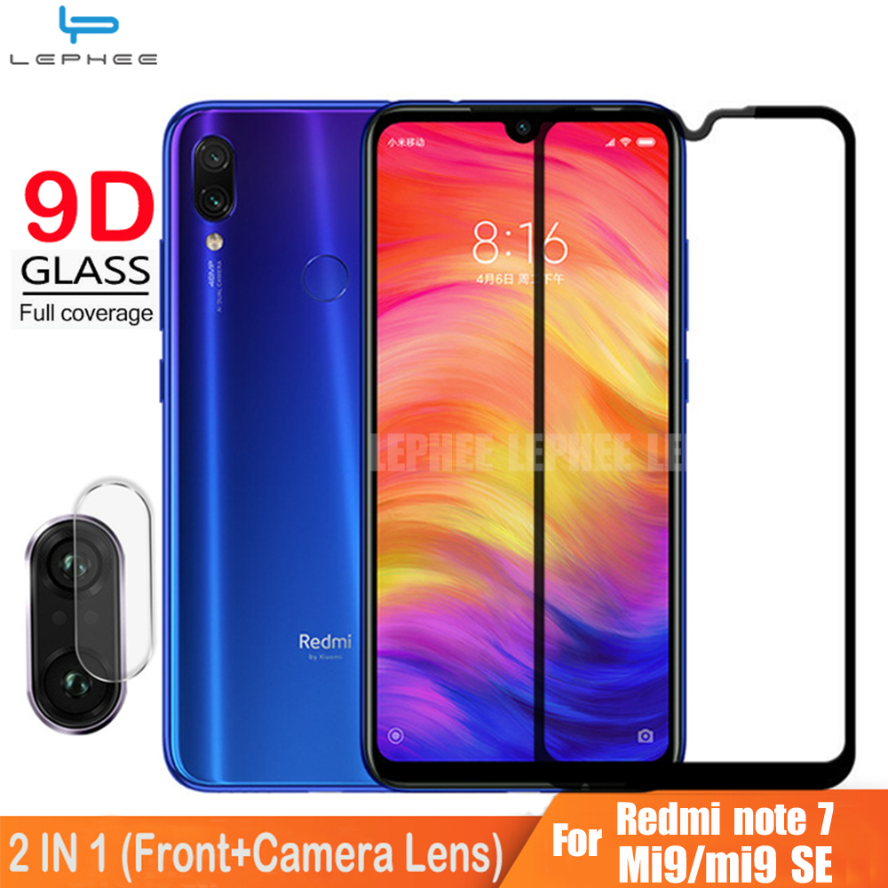 9D Full Cover Glass For Xiaomi Redmi Note 7 Pro Screen Protector Tempered Glass On Redmi Note 7 Pro Note7 Camera Lens Film HD