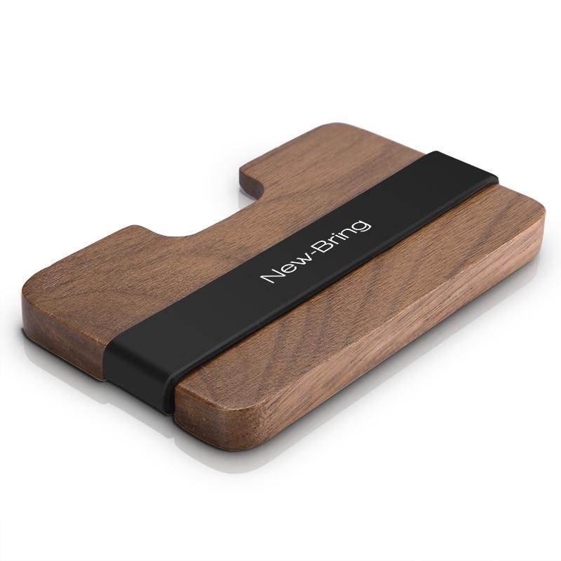 NewBring Handmade Wooden Wallet Men Multi-Functional Key Coin Purse and Card holder wallet