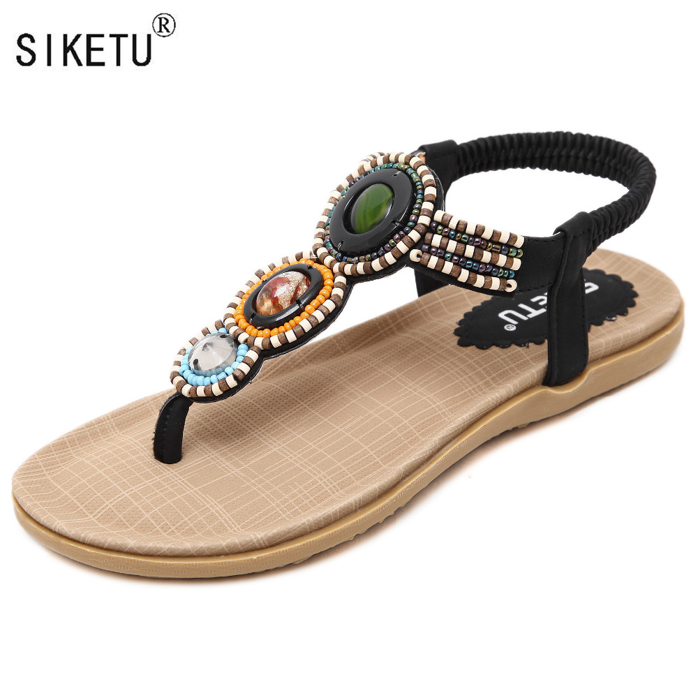 Cómodas Nueva Cuentas Siketu Sandalias Mujeres 35 Bohemia 2017 Marca Corea 42 Zapatos Bxn4YnU