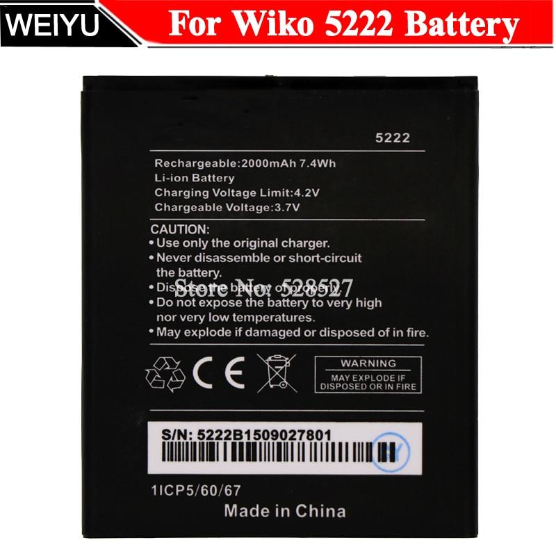 For Wiko 5222 Battery 2000mAh  Batterie Bateria