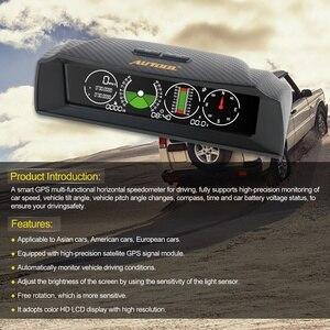 Image 3 - AUTOOL X90 GPS измеритель скорости наклона Инклинометр автомобильный HUD угол наклона транспортир широта долготы умный компас