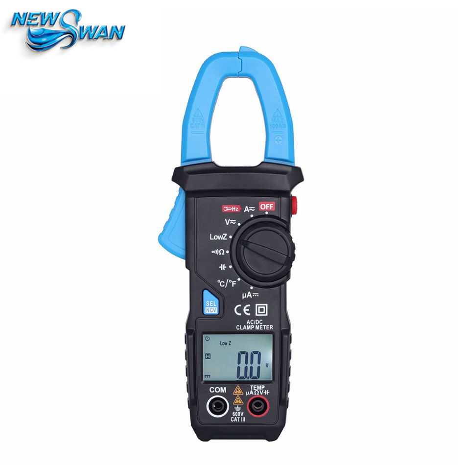 Official ACM22A 600A AC/DC mper Current Clamp Meters Voltage Capacitor Temperature Multimeter NCV tester VS MS2108A auto digital clamp meter mastech ms2108a pincers ac dc current voltage capacitor resistance tester aimometer multimeter amper
