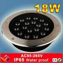 Цветная(RGB) для высоких и низких лучей и одиночного Цвет светодиодный подземный свет 18 Вт AC85-265V/DC12V/DC24V IP65/квадратный/Stage/бар пол освещение энергосберегающие лампы