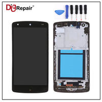 Black For LG Google Nexus 5 D820 D821 LCD Display Touch Screen Digitizer Bezel Frame Full