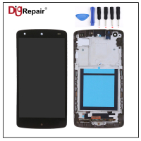 Black For LG Google Nexus 5 D820 D821 LCD Display Touch Screen Digitizer Bezel Frame Full