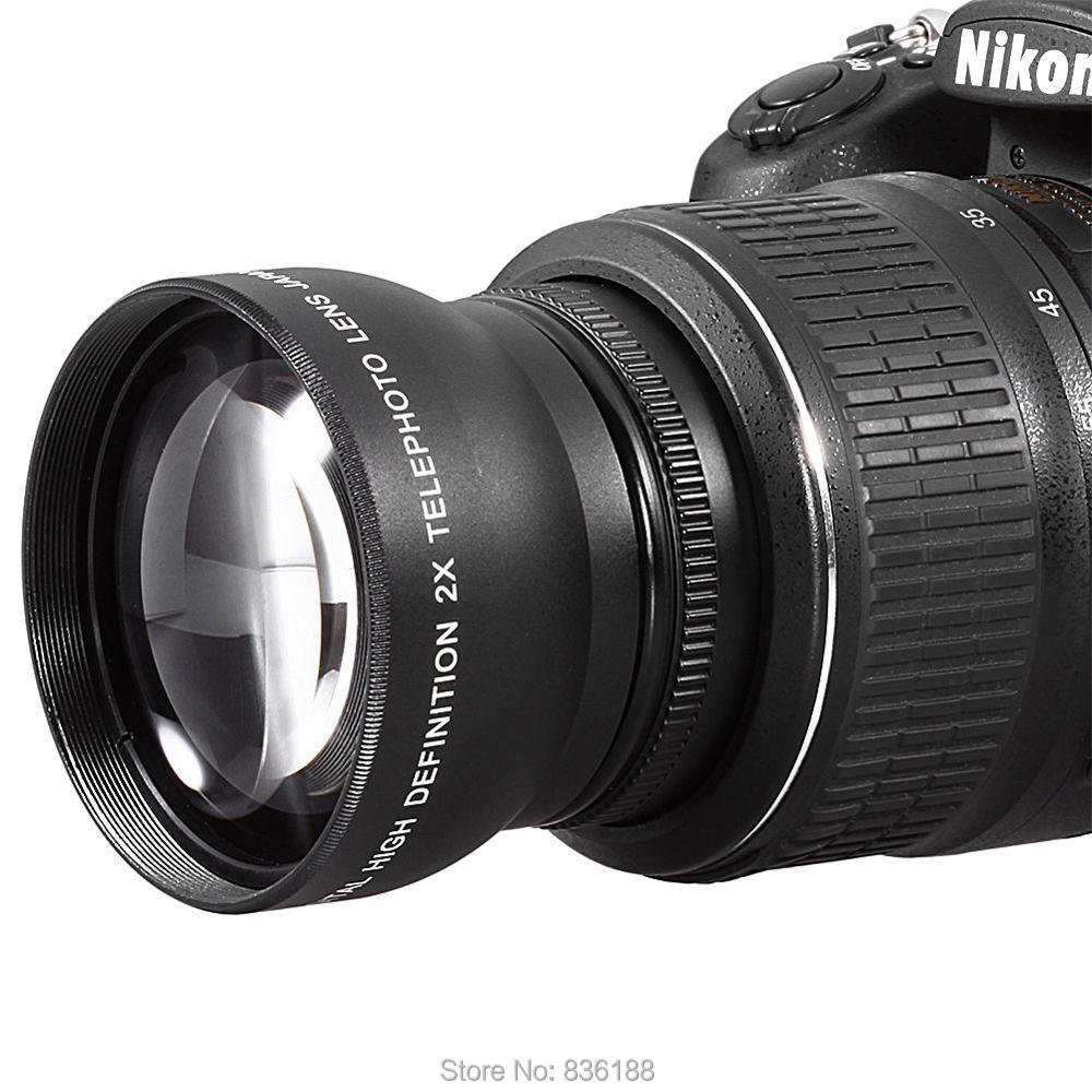 все цены на  67mm 2X Telephoto Tele Convert Lens for Nikon Nikkor 16-85mm 18-70mm 18-105mm 70-300mm 18-140mm lens  в интернете