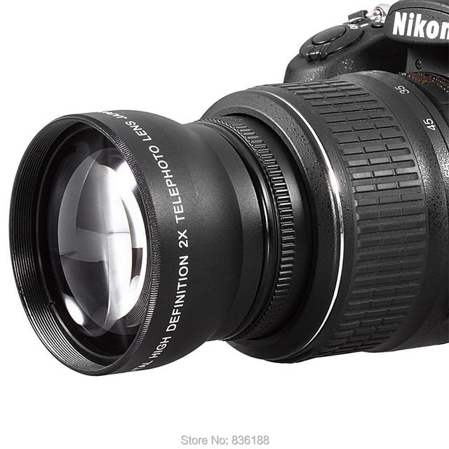 US $34 58 |67mm 2X Telephoto Tele Convert Lens for Nikon Nikkor 16 85mm 18  70mm 18 105mm 70 300mm 18 140mm lens-in Camera Lens from Consumer