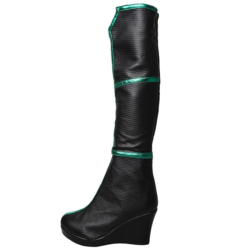 New Thor 3 Ragnarok Trailer Hela Cosplay Shoes High Heel Boots Halloween Cos